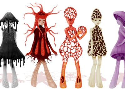 Mushroom Girls par Saccstry