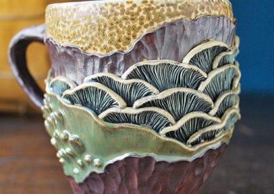 Céramique à décors de sous-bois par Lori Phillips