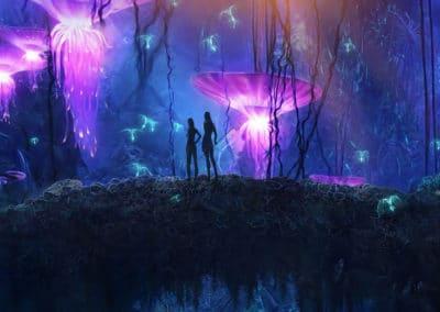La forêt bioluminécente d'Avatar